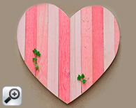 corazón rosa, líneas verticales: 40,5 cm x 40,5 cm
